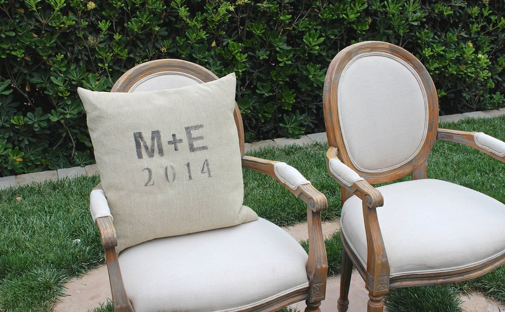 CREAM BRIDE AND GROOM CHAIRS (2) - $70