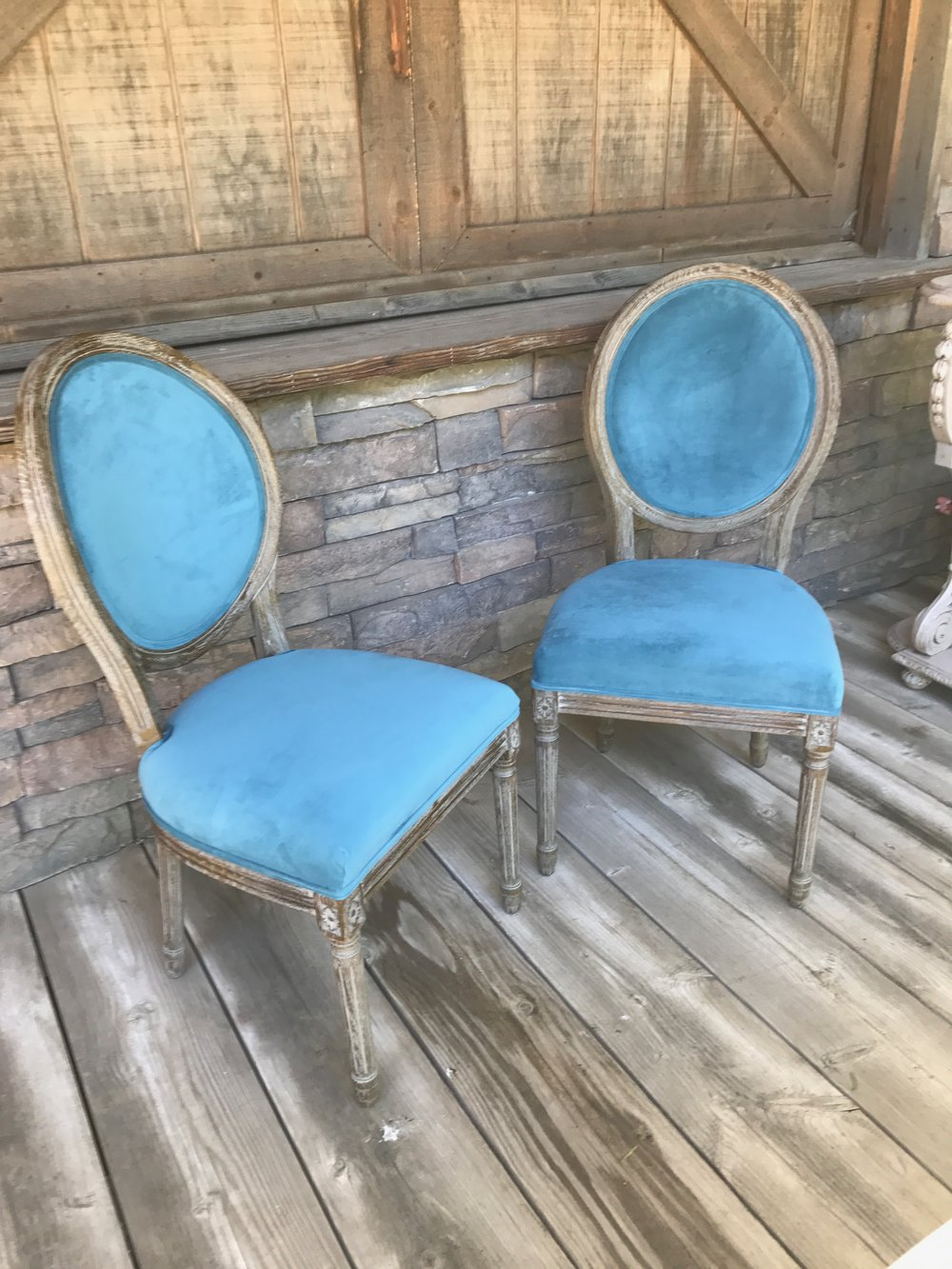 PEACOCK BRIDE AND GROOM CHAIRS (2) - $70