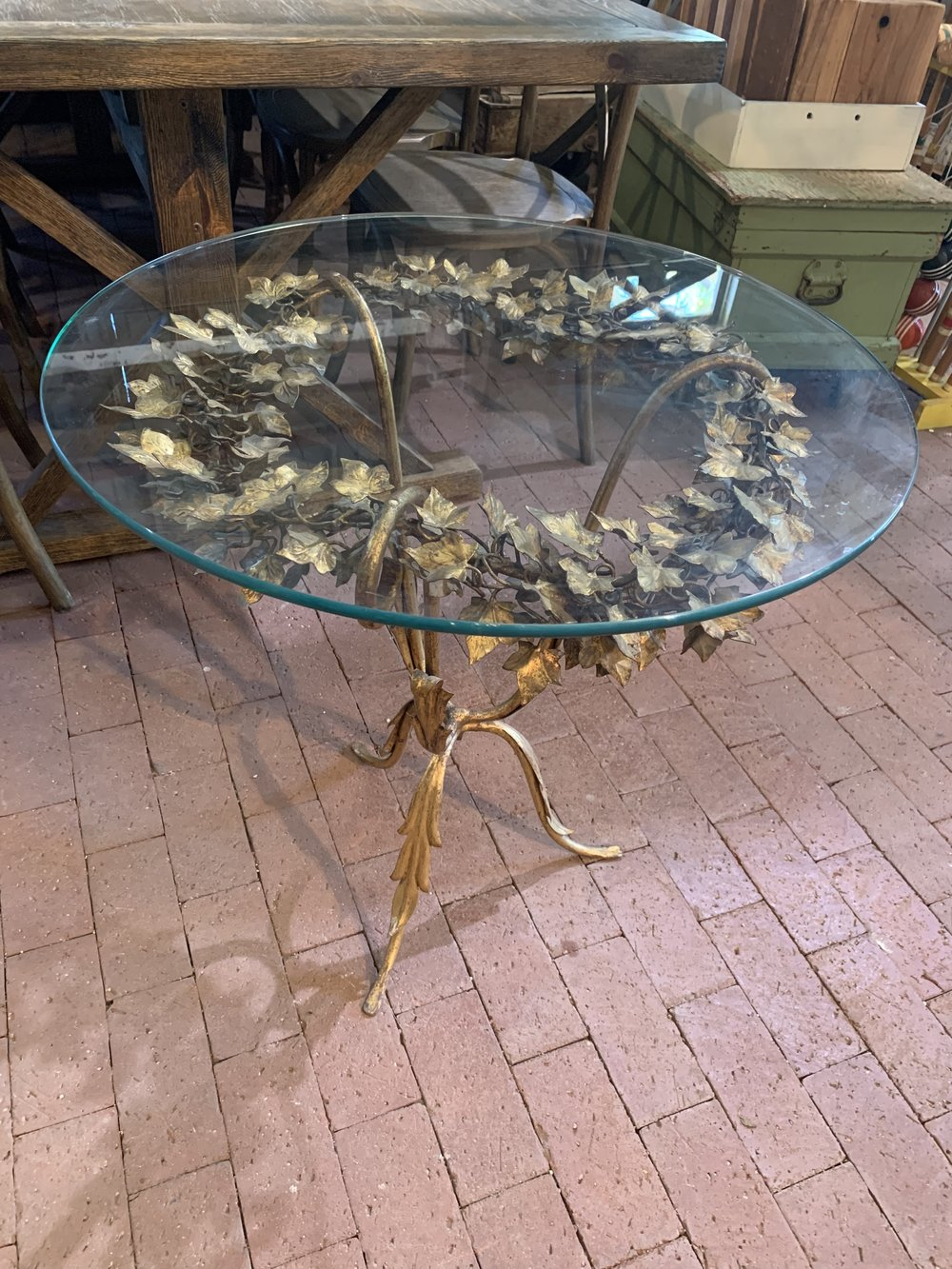 FRENCH GOLD LEAF TABLE - $75