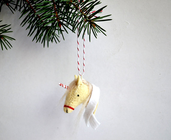 i'm the christmas unicorn-felt ornament.