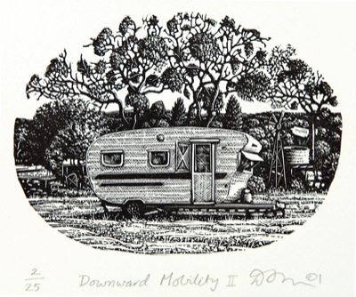 Downward Mobility print from Port Jackson Press