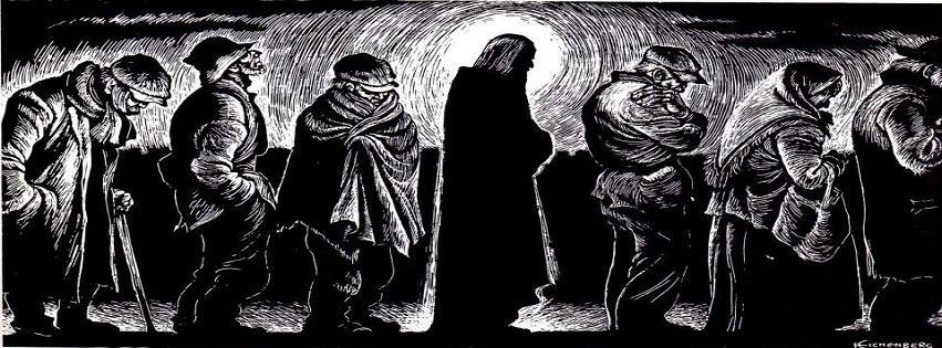 The Christ of the Breadlines by Fritz Eichenberg. Image found here: http://sacredartpilgrim.com/collection/view/19