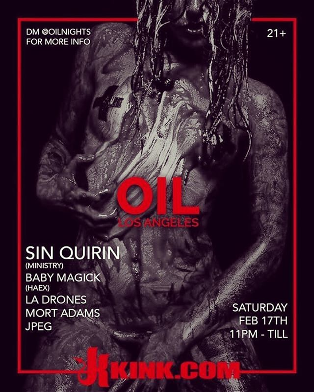 Yay! I'm helping host @oilnights ! Be there or be 🔲. 💋xo