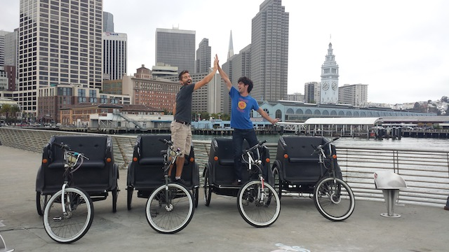 Kyle and Micah recently delivered 4 former Cabrio pedicabs to the motor city.