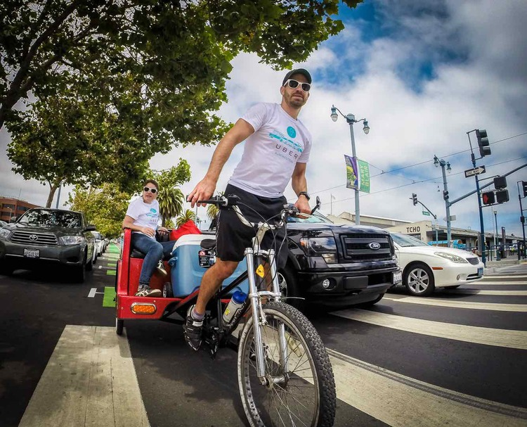 Pedicab Operator Tim Hallahan for Uber
