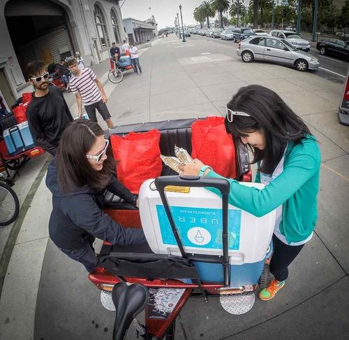 Uber Ice Cream on a San Francisco Pedicab