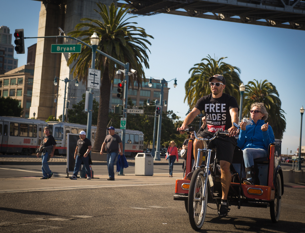 A Pedicab ride to AT&T Park