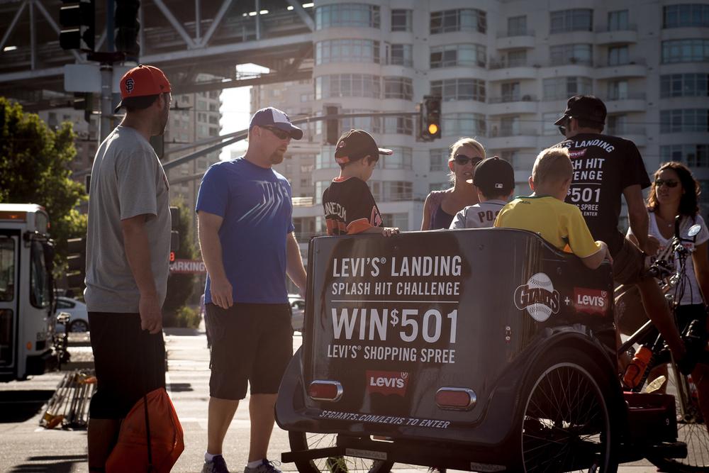 A Pedicab Gleams in the Sun