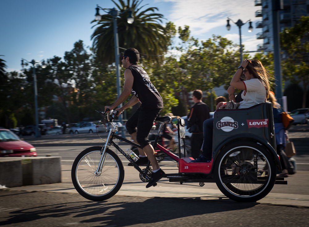 Rushing to the Game w/ a San Francisco Pedicab
