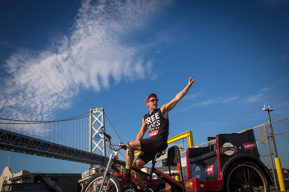 The Babe Ruth by a San Francisco Pedicab Operator