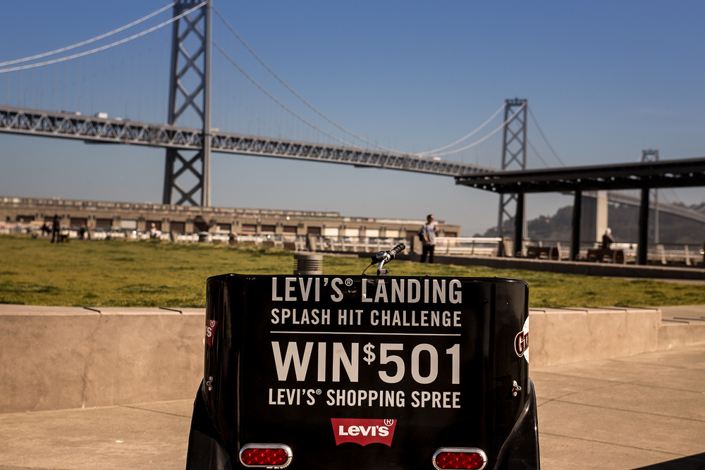 A Pedicab & The San Francisco Bay Bridge