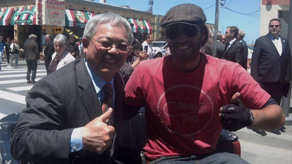 Pedicab Operator with the Mayor