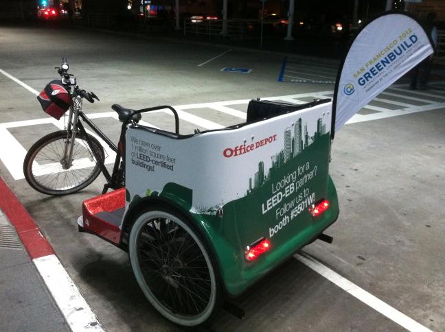 Greenbuild Pedicab w/ Banner