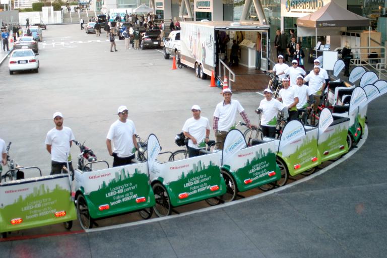 The Greenbuild Pedicabs in San Francisco