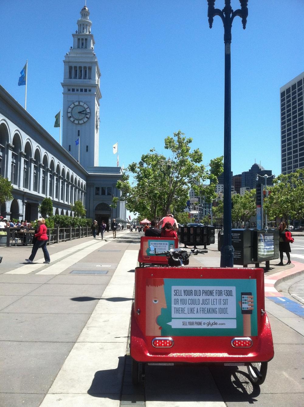 Cabrio Taxi San Francisco Pedicab Advertising for Glyde.jpeg