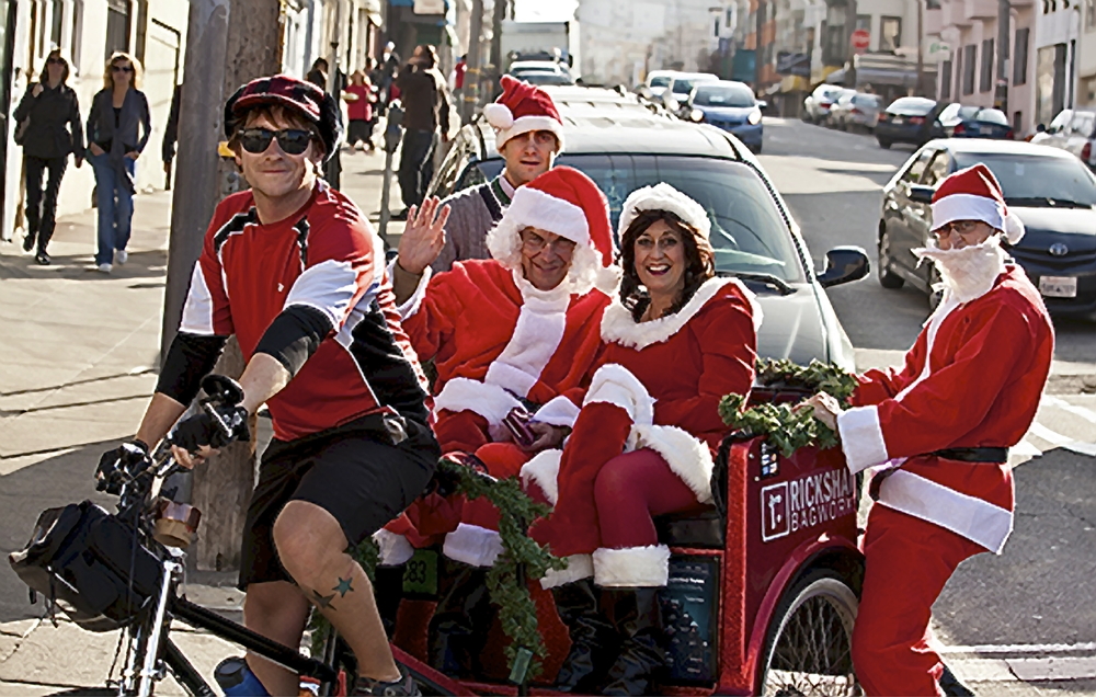 Pedicabs at San Francisco Santa Con