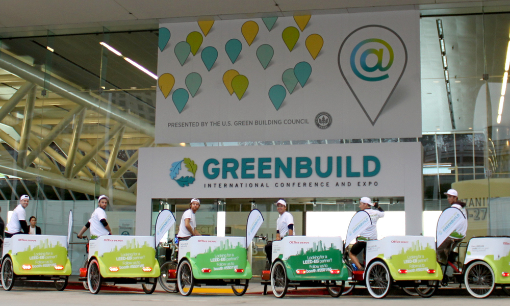 Again, The Fully Branded Pedicabs of US Greenbuild