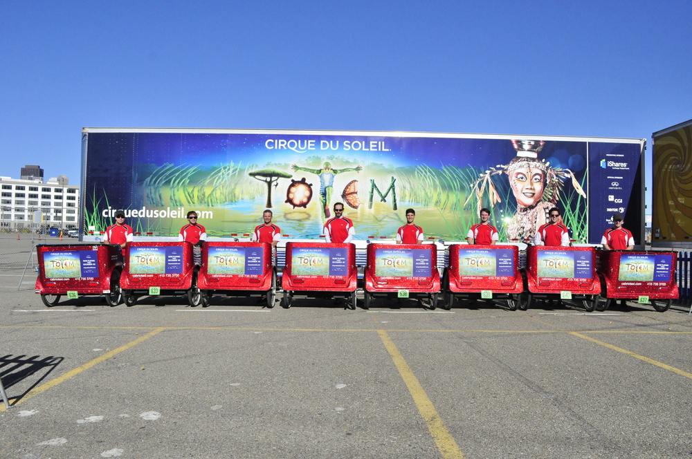 The Branded Pedicabs of Cirque Du Soleil