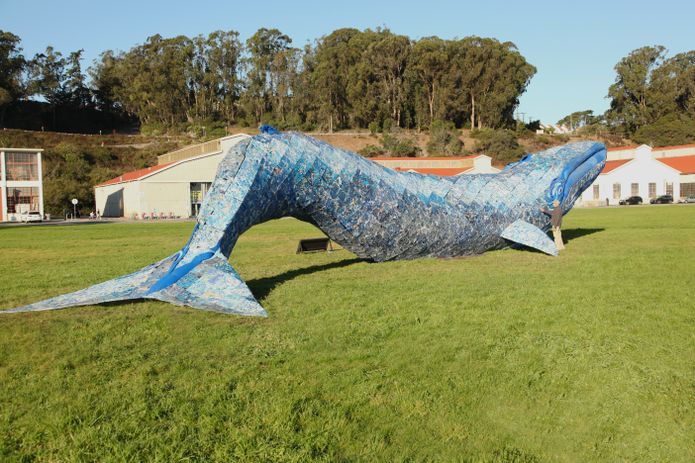The Plastic Whale by Joel Dean Stockdill and Yustina Salnikova, for the Monterey Bay Aquarium, NPS, and GGNPC