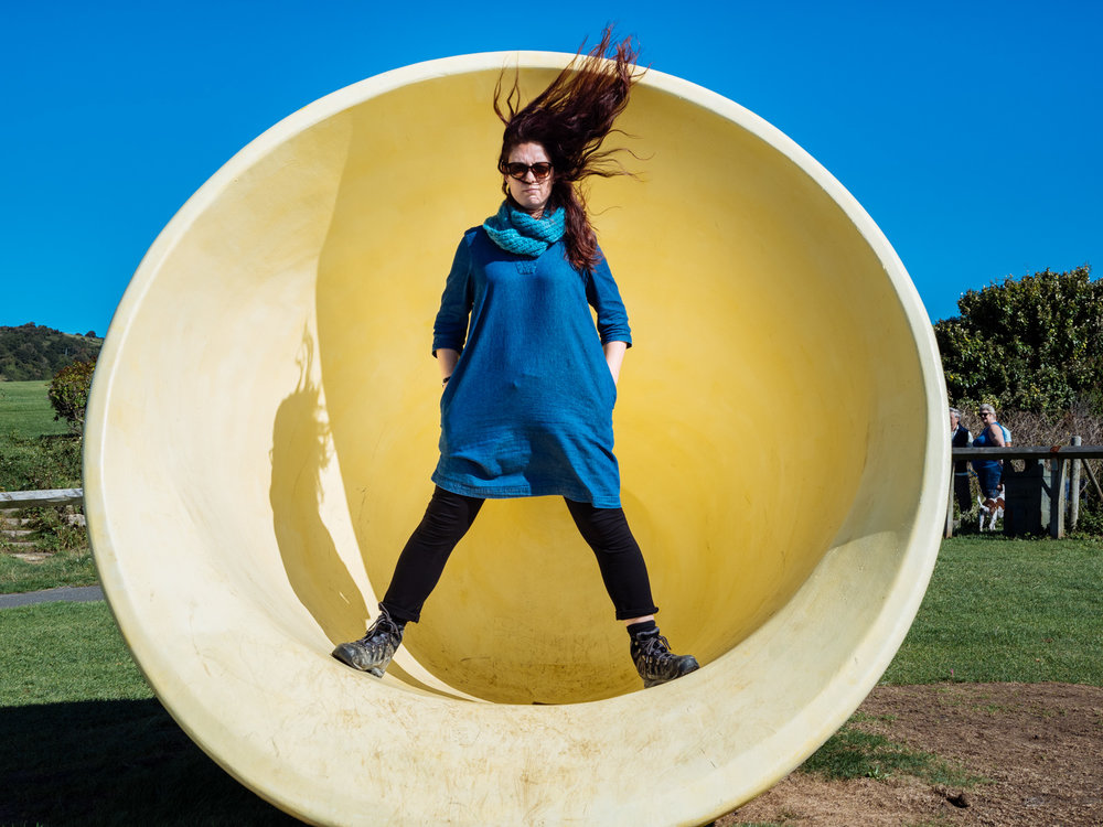 Lucy Trodd of Showstoppers, Trodd on Bratt and much more stands in a horn, Folkestone Triennial
