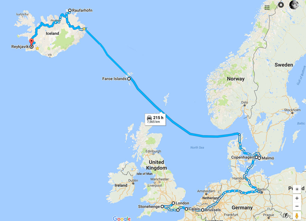 September 11th 2017 to October 9th 2017 - 3330km of roads, over 7,000 kilometres travelled in total.