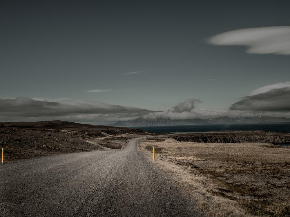 Route 85 to Þórshöfn, Iceland. Þórshöfn, Iceland.