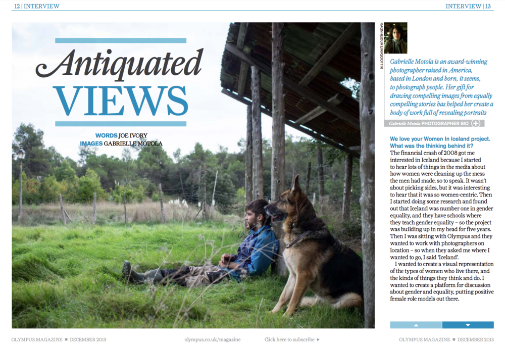 Interview in Olympus Magazine (English)