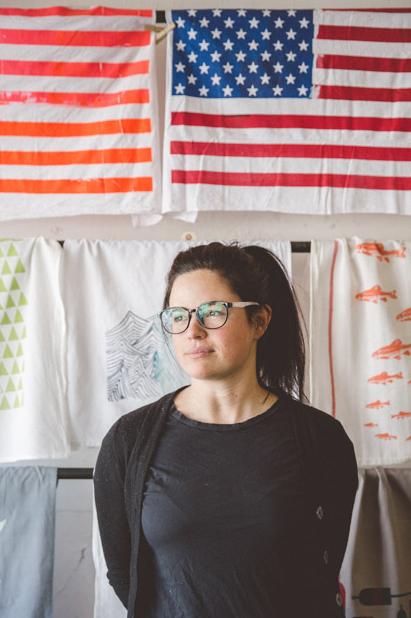 Claire: Co-founder, designer &screen printer.
