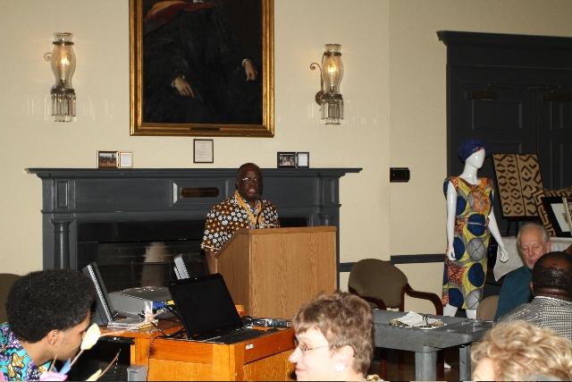 Daniel at podium