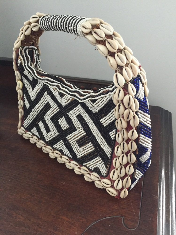 Cowry Shell and Bead Purse