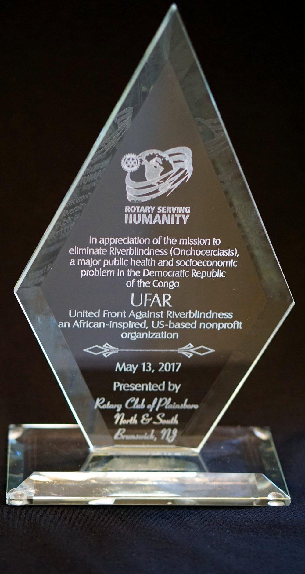 UFAR Award May 2017.JPG