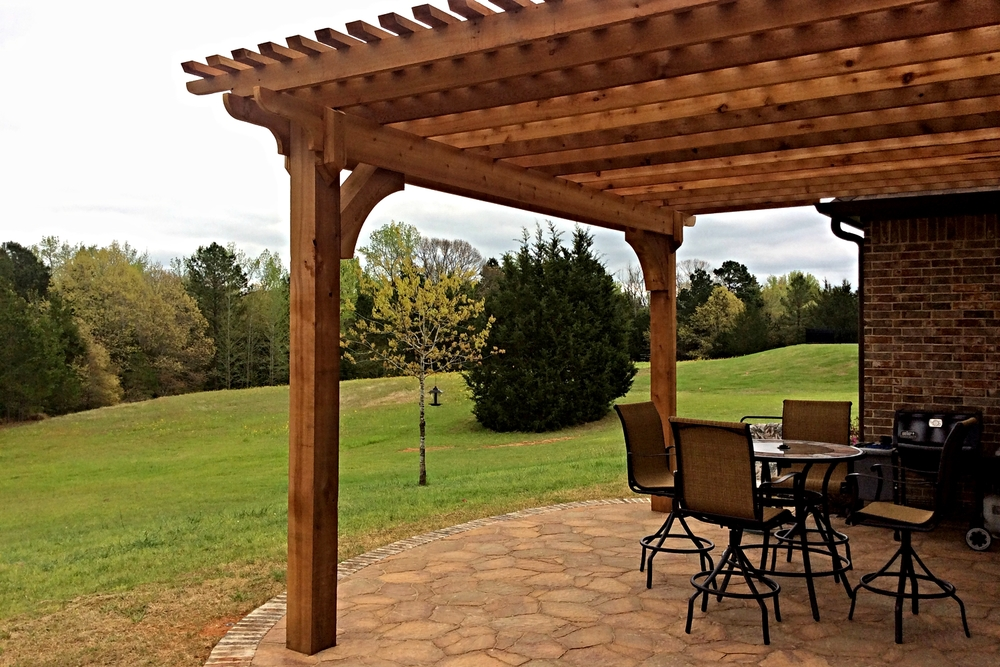 Flagstone Pavers and Pergola