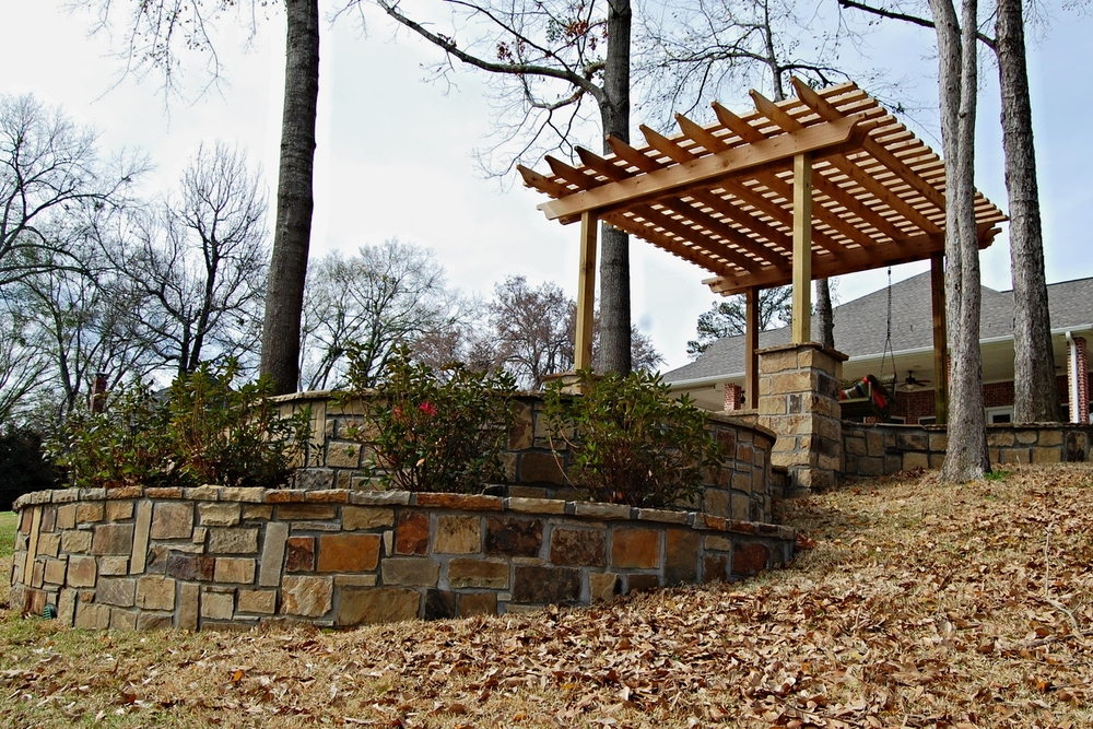 Flagstone Patio & Pergola