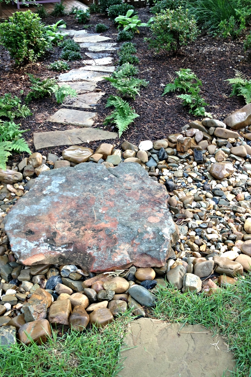 Stepping Stone and Dry Creek Bed