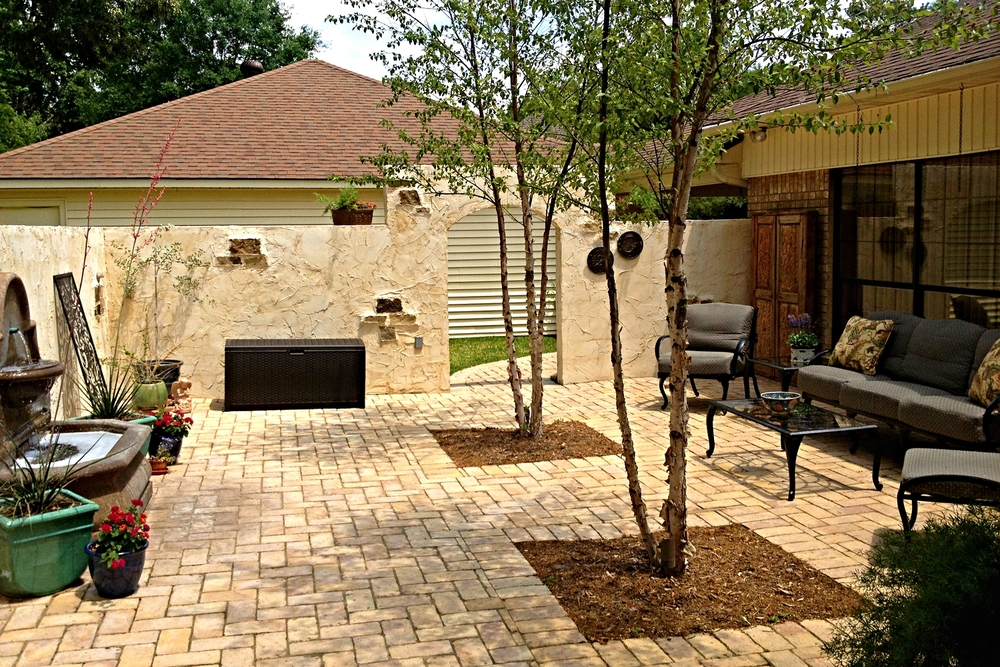 Brick Patio Courtyard