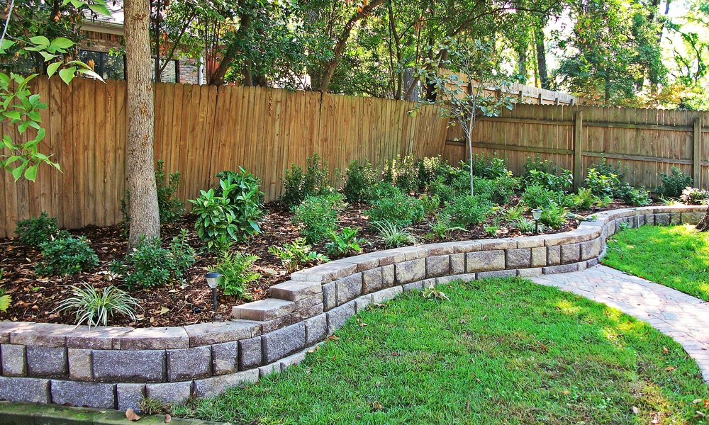 Retaining walls need drainage to relieve hydrostatic pressure.