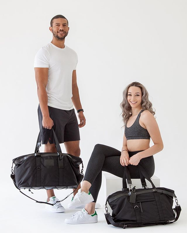 His + Her Athletic Bags = ❤️💪🏽😄 #washableinterior✔️ #multifunctional✔️ #gymbag✔️ #fitcouple✔️ | persucollection.com