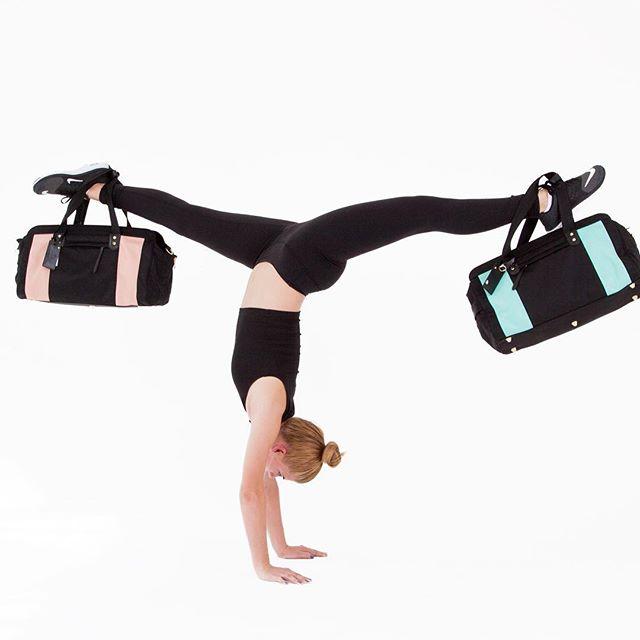 Mid-week #handstands! Blush pink or mint blue? 😍👯#happywednesday #gymnastlife #gymbag