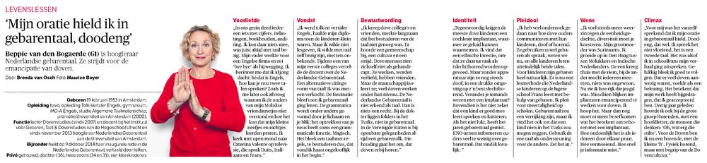 NRC Handelsblad - 13 december 2014