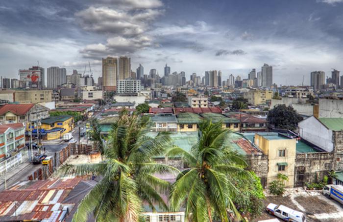 © Lostarts|Dreamstime.com-Retro HDR Manila Skyline Photo