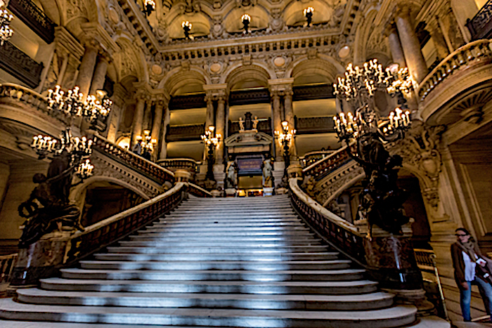 Paris Opera  House, Grand Staircase Photo by Nicole Brown. Dreamstime