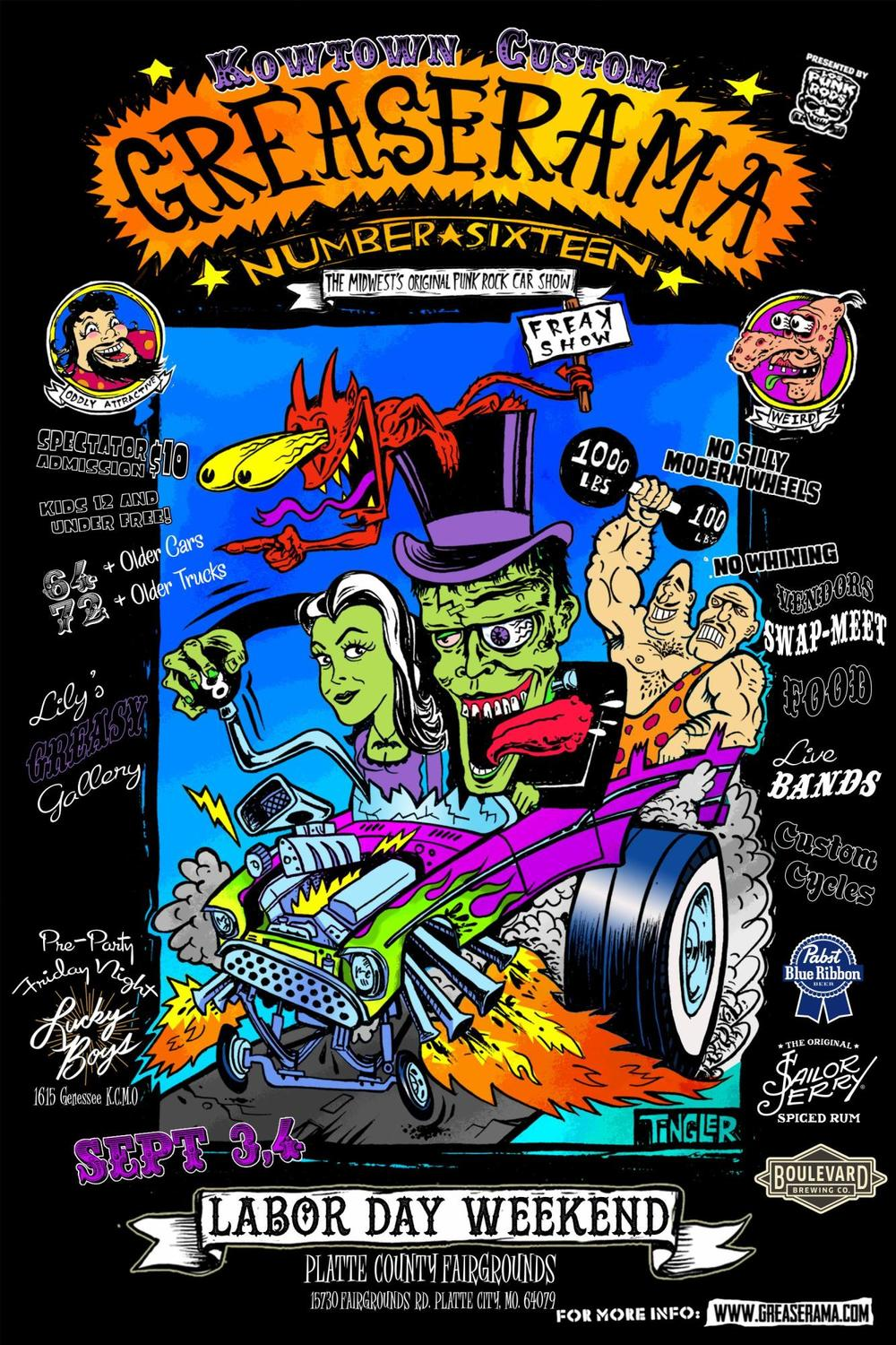greaserama 2016 flyer