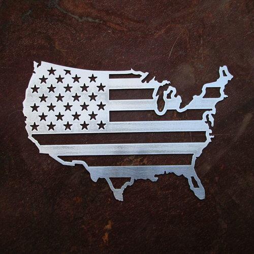 USA Metal Map Flag SPEEDCULT - Us map flag