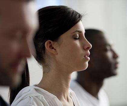 Yoga in the center meditation workshops