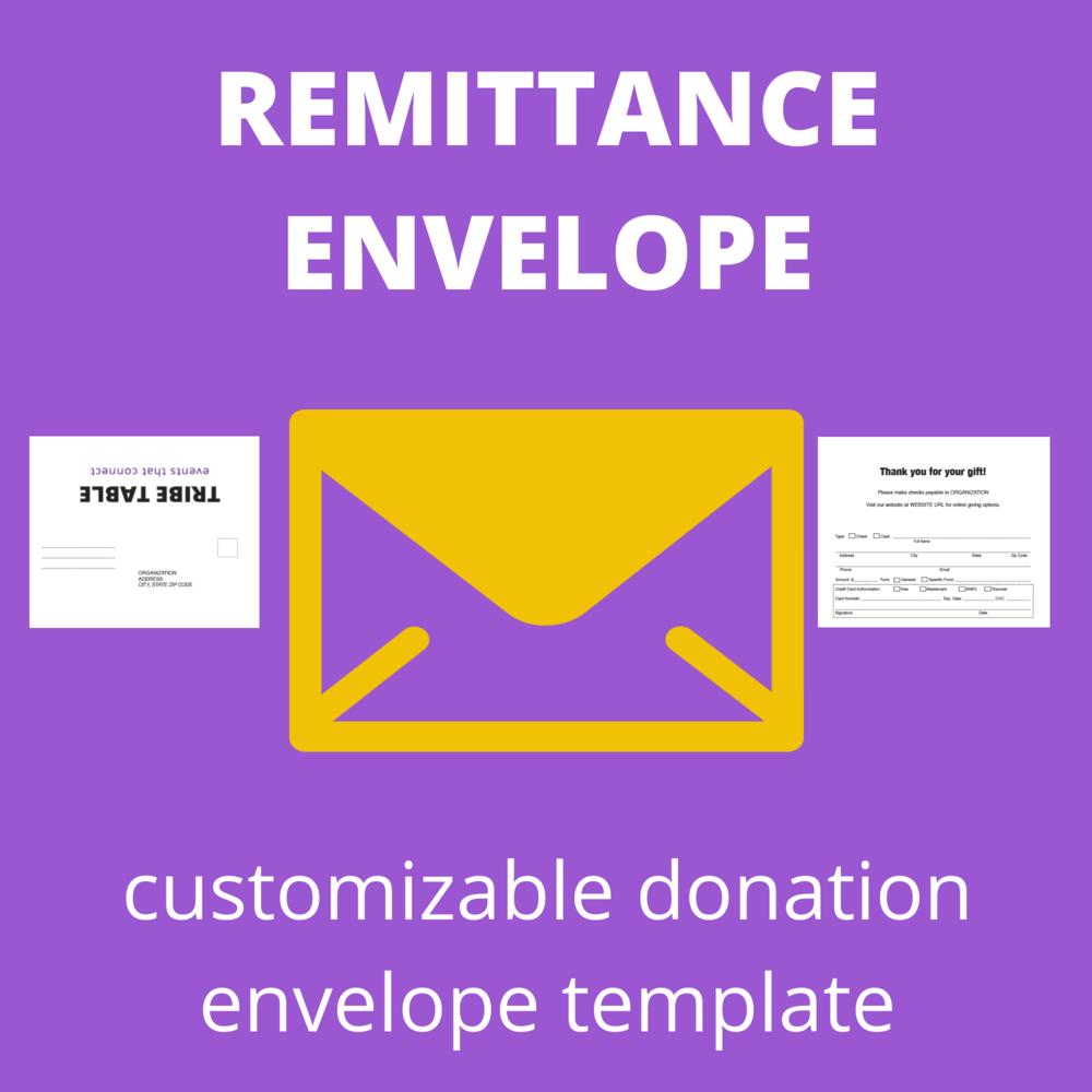 MATERIALS: Adobe InDesign   #6 3/4 Remittance Envelopes