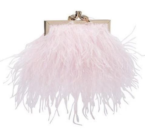 size 40 584ac 1dcc3 pink feather clutch bag - bdjobsall.com 5d89767456