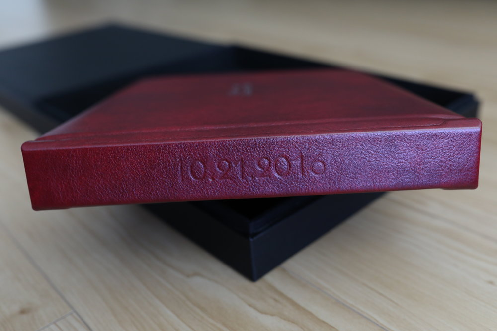 Gramercy Deep Red Leather Cover with Spine Imprint in Blind