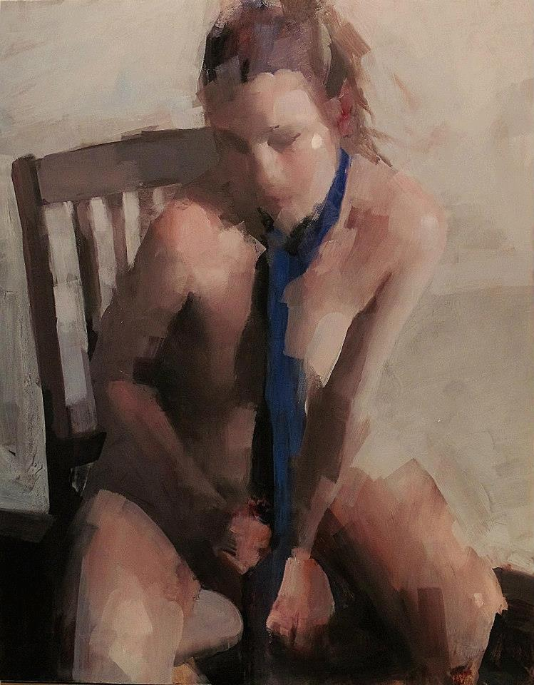 Scarf , 2014 Oil on Panel  20 x 16 in.