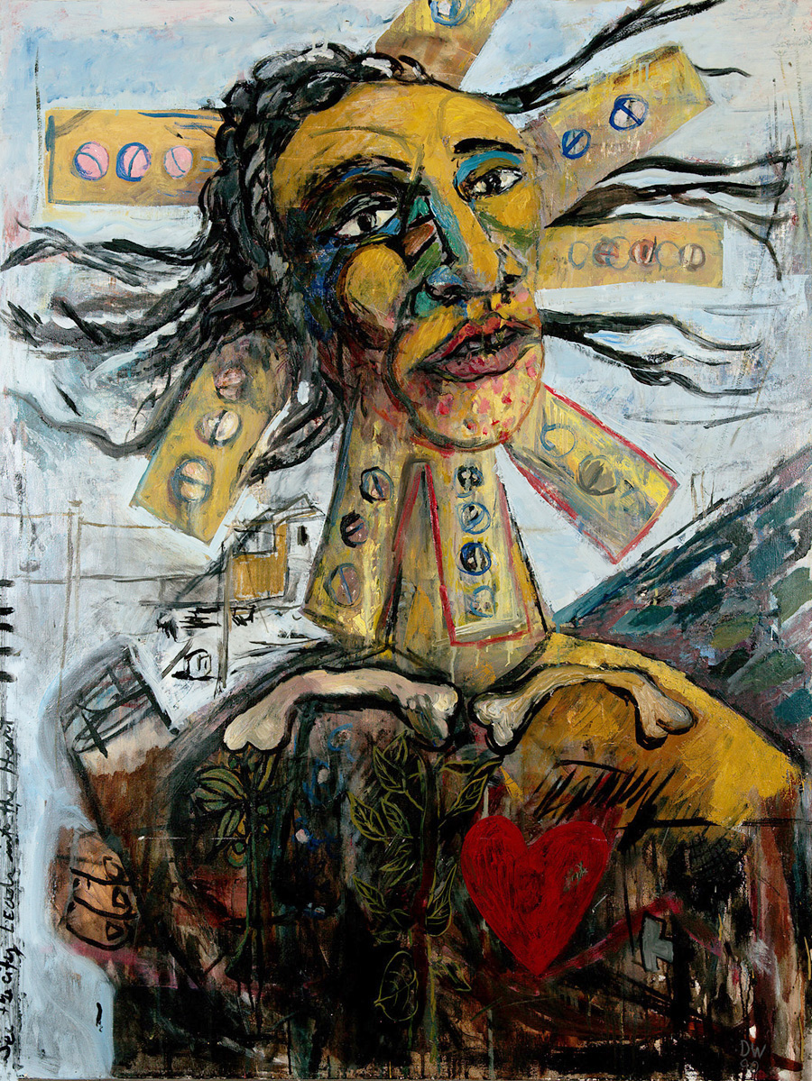 Urban Shaman , 1991 Oil on Canvas 50 x 38 in.