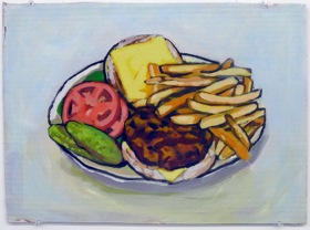 Lunch, 2010 Acrylic on Cardboard 14 x 18 in.